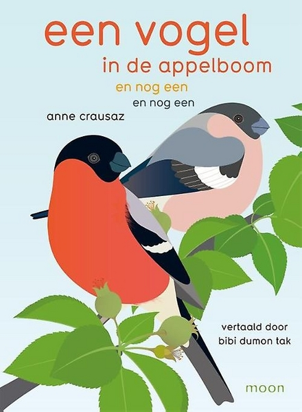 Een vogel in de appelboom