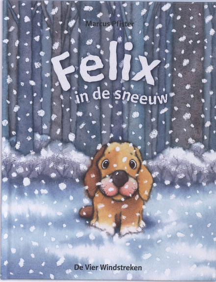 Felix in de sneeuw