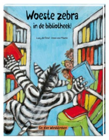 Woeste zebra in de bibliotheek!
