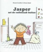 Jasper zet de vuilniszak buiten