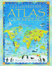 Geïllustreerde atlas voor kinderen