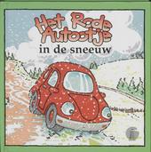 Het rode autootje in de sneeuw