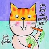 Een kat die wortels eet?
