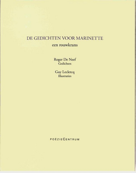 De gedichten voor Marinette : een rouwkrans