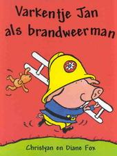 Varkentje Jan als brandweerman