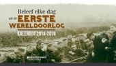 Beleef elke dag uit de Eerste Wereldoorlog : kalender 2014-2018