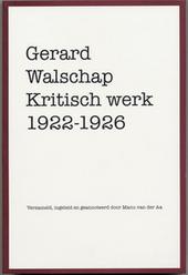 Kritisch werk 1922-1926