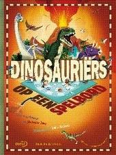 Dinosauriërs op een spelbord