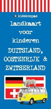 Kidskompas landkaart voor kinderen Duitsland, Oostenrijk & Zwitserland