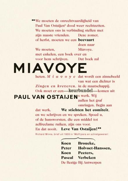 Miavoye : op bedevaart naar Paul van Ostaijen