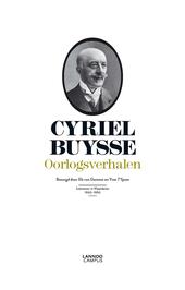 Cyriel Buysse : oorlogsverhalen