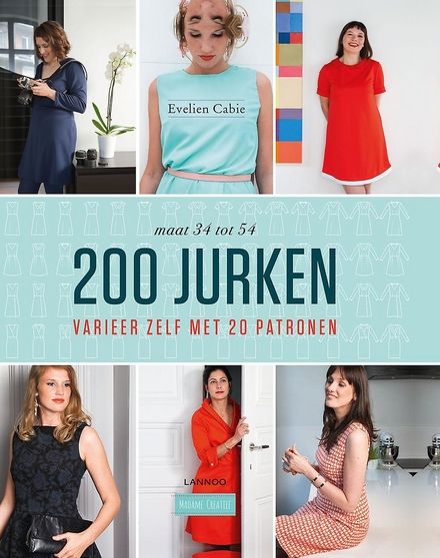 200 jurken : varieer zelf met 20 patronen : maat 34 tot 54