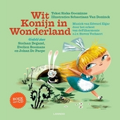 Wit konijn in Wonderland