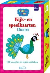 Kijk- en speelkaarten dieren : 100 woordjes en leuke spelletjes