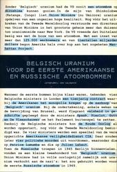 Belgisch uranium voor de eerste Amerikaanse en Russische atoombommen