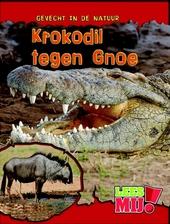 Krokodil tegen gnoe