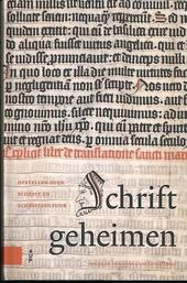 Schriftgeheimen : opstellen over schrift en schriftcultuur