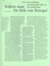 Kijken naar de blik van Bruegel : over de artistieke, ontwerpende blik op het landschap