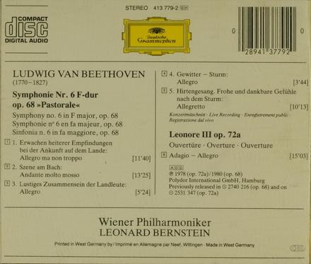 """Symphonie no.6 op.68 """"Pastorale"""""""
