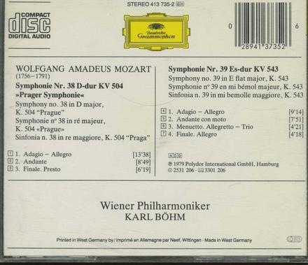 Symphonie no.38 KV 504