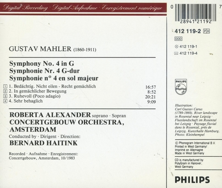 Symphony no.4 in G
