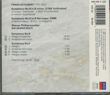 Symphony no.8 'Unfinished'
