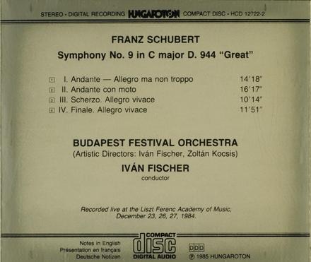 Symphony no.9 in C major D.944