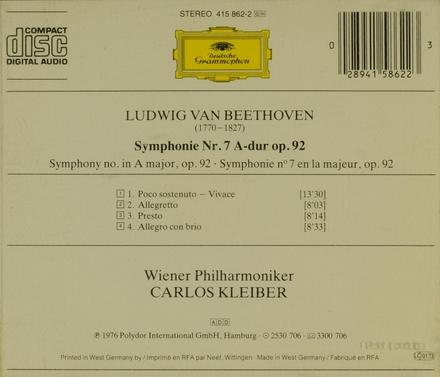 Symphonie No.7 op.92