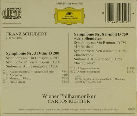 Symphonie No. 3 D. 200