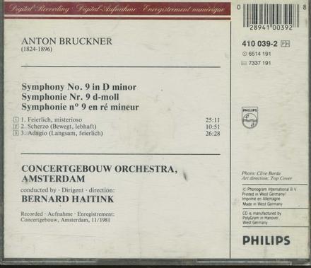 Symphony no.9 in d minor