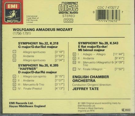 Symphony no. 32 in G major, K. 318