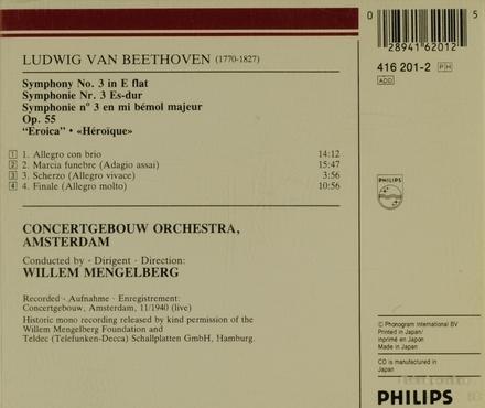 """Symphony no. 3 in E flat, op. 55 """"Eroica"""""""