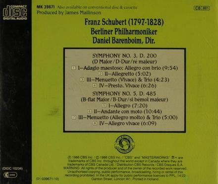 Symphony no.3 in D major, D.200
