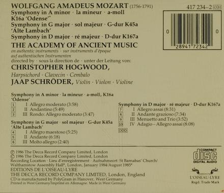 Symphony KV.16a 'Odense'