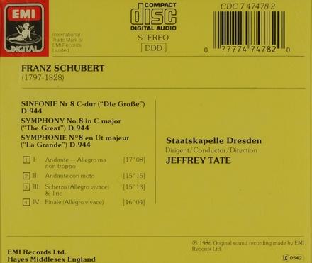 Symphony no.8 (no.9) in C major D.944
