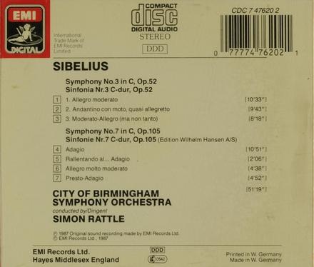 Symphony no.3 in C