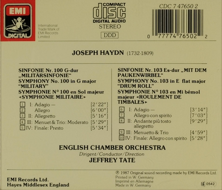 """Symphony no.100 in G major """"military"""""""