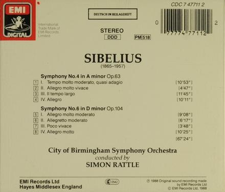 Symphony no.4 in a minor