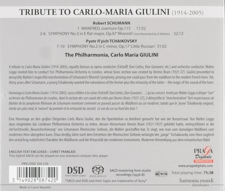 Tribute to Carlo Maria Giulini