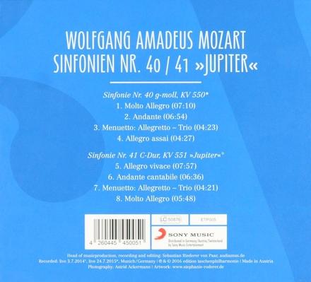 """Sinfonien nr.40/41 """"Jupiter"""""""