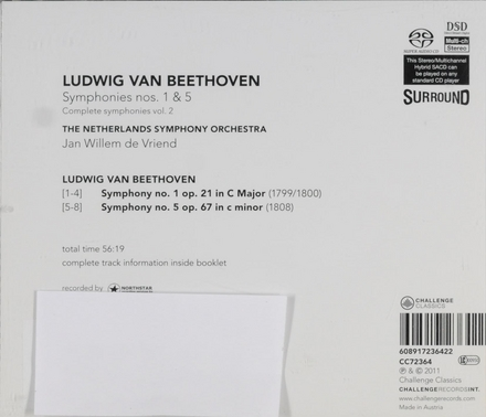 Symphonies nos.1 & 5. vol.2