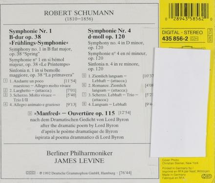 Symphonien No.1 'Frühling-Spring' & No.4 / Manfred-Ouvertüre