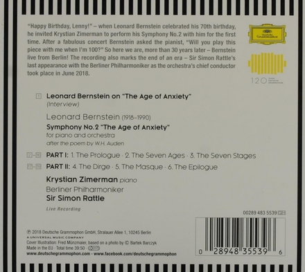 """Symphony no.2 """"The age of anxiety"""""""
