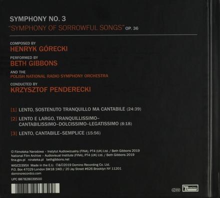 "Symphony no.3 ""Symphony of sorrowful songs"""