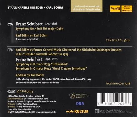 Symphony no.5 in B flat major D485. vol.45