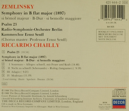 Symphony in B flat major