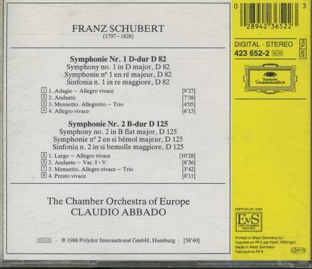 Symphonien nos. 1 & 2