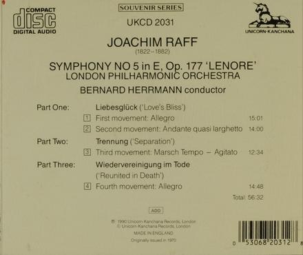 Symphony no.5 in E op.177 'Lenore'