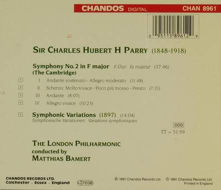 Symphony no.2 in F major (The Cambridge)