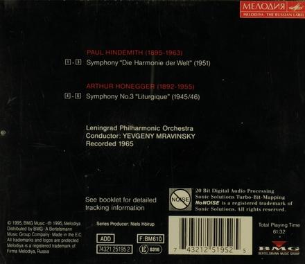 """Symphony """"Die Harmonie der Welt"""" ; Symphony no. 3 """"Liturgique"""". vol.6"""